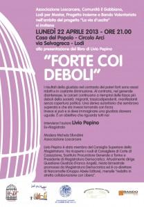 volantino-incontro-22-aprile-2013 presentazion libro Livio pepino